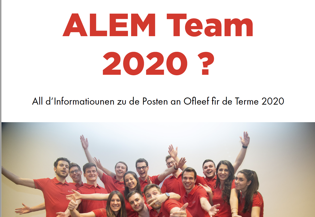 [Recrutement] ALEM Team 2020