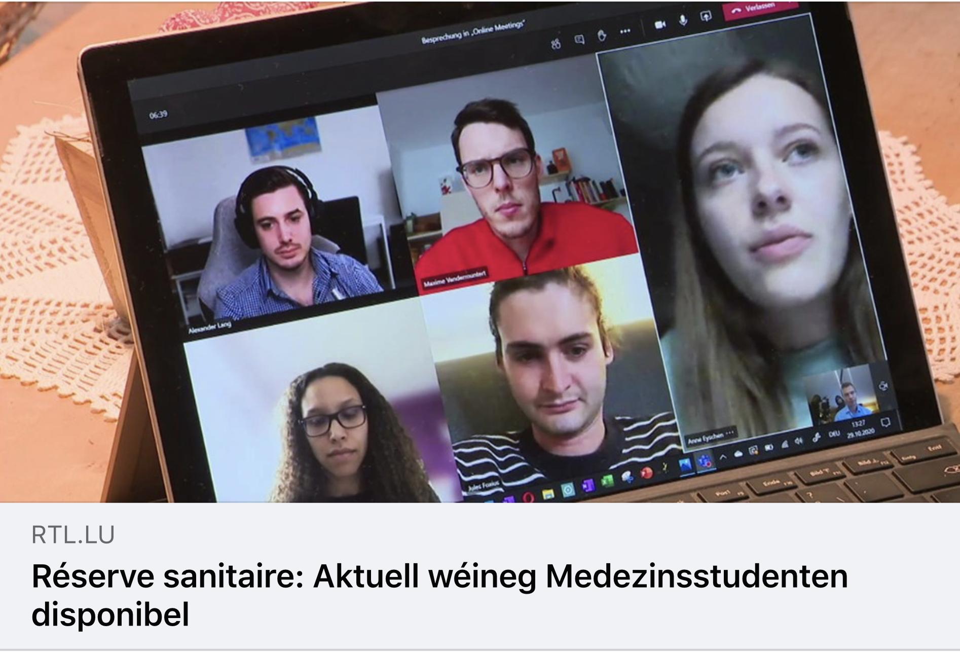 RTL Beitrag zur Reserve Sanitaire